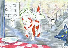 Obrazy - Mačiatko opäť pri paneláku - 5106405_