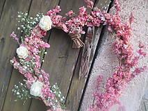 Dekorácie - ružičkové srdce  - 5107043_