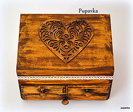 Krabičky - Srdce z dreva - 5105871_