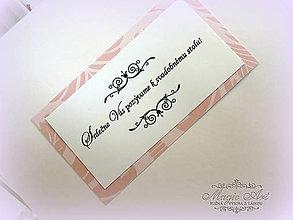 Papiernictvo - Kartičky k svadobnému oznámenius potlačou podla svad. oznámenia - 5109158_