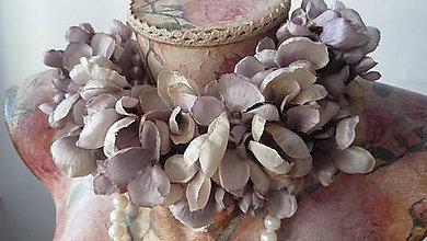 Ozdoby do vlasov - Čelenka popol z ruží - 5107181_