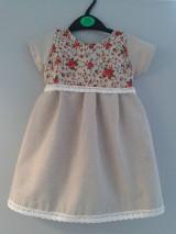 Detské oblečenie - Detské šaty natural ... - 5105511_