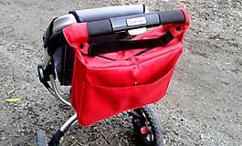 Veľké tašky - Taška na kočík červená - 5110485_