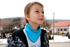 Detské doplnky - Obojstranná fleecová šatka - 5110524_