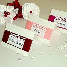 Papiernictvo - Svadobné menovky na stôl - rôzne farby - 5111298_