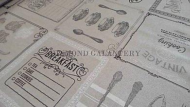 Textil - Bavlna na režnom podklade Cooking - cena za 10 cm - 5112975_