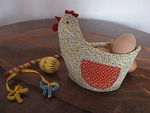 Dekorácie - Sliepka s vajíčkom-dekorácia na stôl - 5109590_