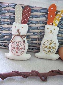 Dekorácie - Zajačik- veľkonočná dekorácia - 5109598_