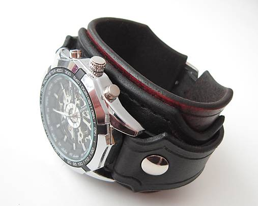 b8005f06a Steampunk pánske hodinky, kožené / leon - SAShE.sk - Handmade Náramky