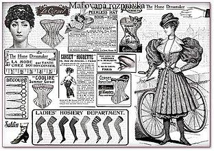 Papier - Ryžový papier 48x33 cm- Black&White woman - 5110316_
