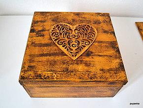 Krabičky - Drevná krabička s vekom - 5109692_