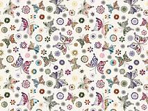 - Bavlnená látka s motýľmi - 5109648_
