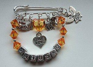 Odznaky/Brošne - Personalizovaná brošnička na kočík, či pre maminy, babiny, tety na kabelku - 5110859_