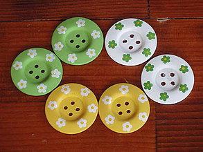 Galantéria - Drevené farebné gombíky - 5110056_