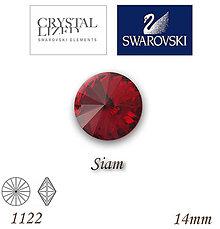Korálky - SWAROVSKI® ELEMENTS 1122 Rivoli - Siam, 14mm, bal.1ks - 5111585_