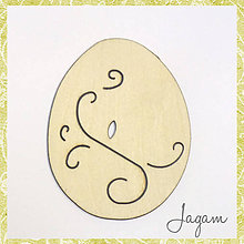 Materiál ručne robený - Veľkonočné vajíčko (č.20116) - 5117615_