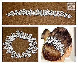 Ozdoby do vlasov - ozdoba do vlasov pre nevestu - 5113591_