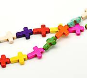 Korálky - Keramické korálky krížiky (balíček 10ks) - 5115436_