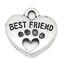 Komponenty - Prívesok BEST FRIEND - 5114928_
