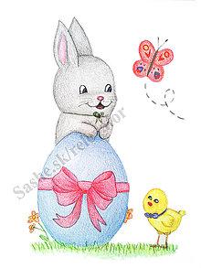 Papiernictvo - Zajačik a veľkonočné vajíčko - 5115642_