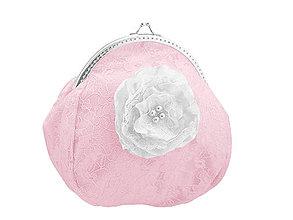 Kabelky - Svadobná kabelka čipková růžová, kabelka pre nevestu 1495B8 - 5122814_