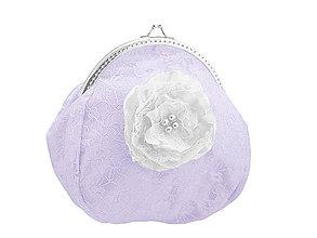Taštičky - Svadobná kabelka čipková fialová, kabelka pre nevestu 1495B10 - 5122898_