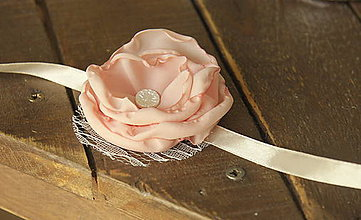 Darčeky pre svadobčanov - Náramok pre družičky - ružový - 5121774_