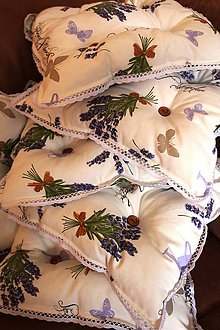 Úžitkový textil - Podsedáky Provance - 5119745_