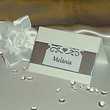 Papiernictvo - Menovky na svadbu strieborné - 5121456_