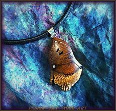 Náhrdelníky - 425. Drevený náhrdelník OLIVOVNÍK - Francie - 5122092_