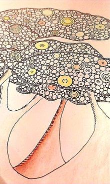 Kresby - Malosť človeka, veľkosť prírody/Baoba a ona - 5119902_