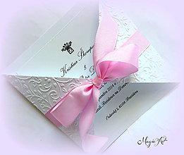 """Papiernictvo - Svadobné oznámenie """"Šťastie"""" - 5118125_"""