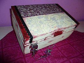 Krabičky - Krabička bordovo-vanilková :) - 5122178_