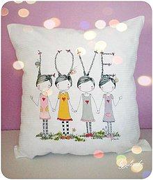 Úžitkový textil - Len ja a môj svet - obliečka na vankúšik, LOVE - 5120444_