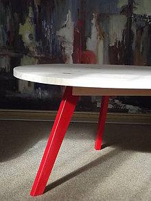 Nábytok - Stolík s červenými nôžkami - 5122759_