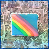 Materiál ručne robený - Polymérová poštová známka - dúha - 5118239_
