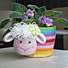 Návody a literatúra - Obal na kvetináč s ovečkou - návod na háčkovanie - 5125019_
