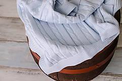 Textil - Jarná/Letná Deka OEKO-TEX® do Kočíka a Postieľky vzor Vrkoč - Modrá - 5125776_