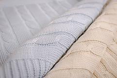 Textil - Jarná/Letná Deka OEKO-TEX® do Kočíka a Postieľky vzor Vrkoč - Modrá - 5125780_