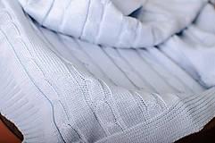 Textil - Jarná/Letná Deka OEKO-TEX® do Kočíka a Postieľky vzor Vrkoč - Modrá - 5125784_