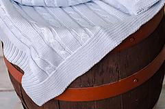 Textil - Jarná/Letná Deka OEKO-TEX® do Kočíka a Postieľky vzor Vrkoč - Modrá - 5125789_