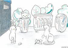 Detské doplnky - Samé mačiatka -- pastel, ceruzka - 5123748_