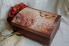 Krabičky - Hortenzia a motýľ... - 5123633_