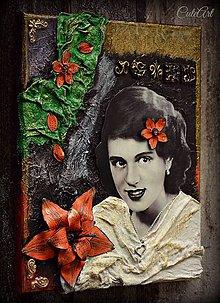 Obrazy - Elza v čarovnej záhrade - 3D obraz z fotky - 5124287_