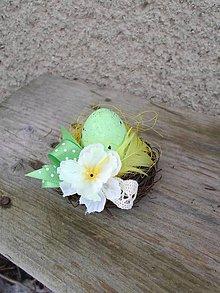 Dekorácie - Pistáciové mini-hniezdočko SKLADOM - 5124763_