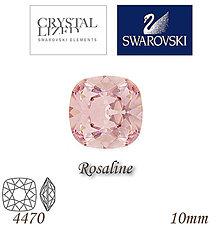 Korálky - SWAROVSKI® ELEMENTS 4470 Square Rhinestone - Rosaline, 10mm, bal.1ks - 5126210_