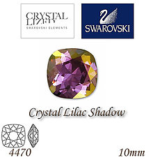 Korálky - SWAROVSKI® ELEMENTS 4470 Square Rhinestone - Crystal Lilac Shadow, 10mm, bal.1ks - 5126669_