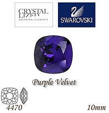 Korálky - SWAROVSKI® ELEMENTS 4470 Square Rhinestone - Purple Velvet, 10mm, bal.1ks - 5126802_