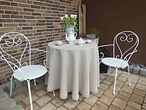 Úžitkový textil - Okrúhly ľanový obrus - 5125184_