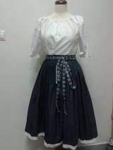 Sukne - Modrotlačová sukňa s mašľou - 5126667_